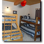 Main Level Bedroom Twin on Twin Bunkbed and Twin on Queen Bunkbed